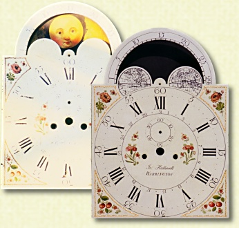"Clock & dial maker 1790 - 1820 | 14"" breakarch dial"